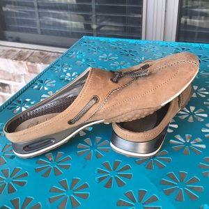 Sz 6 1/2 Brown Suede Cole Haan Nike Air Mules